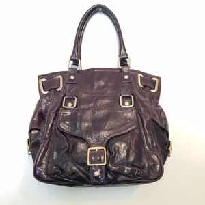 Rebecca Minkoff Maroon Leather Tote Handbag Large